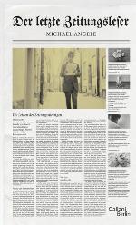 Der letzte Zeitungsleser, Michael Angele